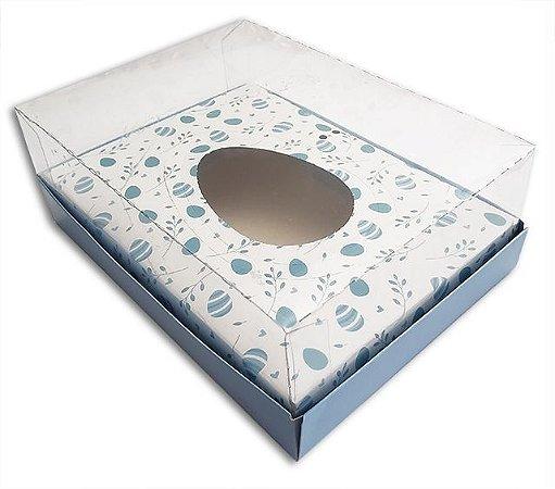 Embalagem Branca c/ azul Ovo de Colher 350g c/5 Und