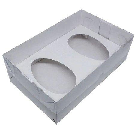 Caixa Branca P/ 2 Ovos de Colher 250g cada c/ 5 Unidades
