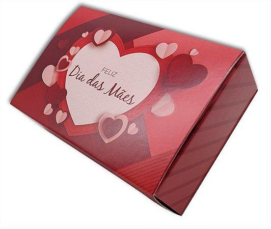 10 Caixas Dia das Mães p/ 6 brigadeiros - Coração Vermelho (12x8x3,5)