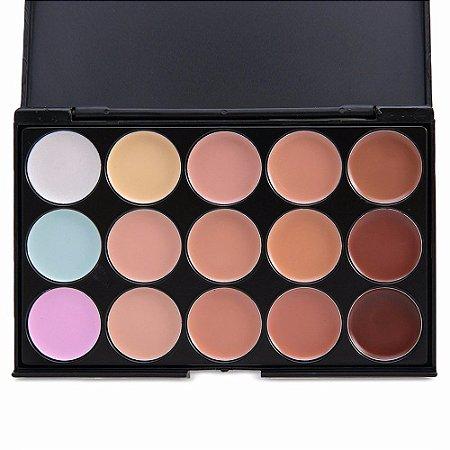 Paleta De Corretivos 15 Cores Maquiagem