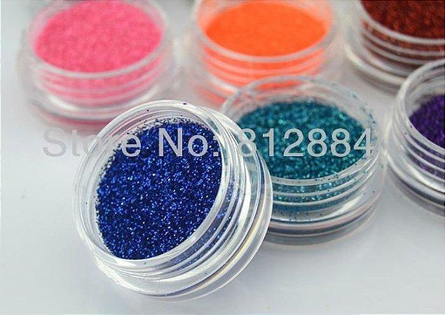 Glitter para unhas - 12 cores