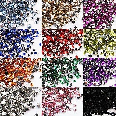 Strass para unhas - 20 unidades - Várias cores