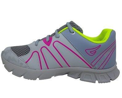 Tênis Infantil Ortopé New Jogging 2137016 - Cinza/Pink