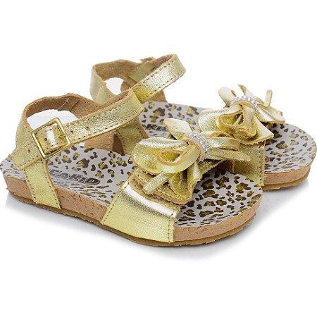 Sandália Infantil Beakid Bambina 14003 - Ouro