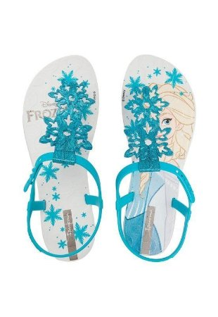 Sandália Infantil Ipanema Frozen 25865 - Branco / Azul