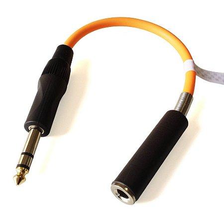 Adaptador Conversor Mono / Estéreo P10 + Jack P10 (J10 fêmea)
