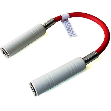 Adaptador / Emenda Jack P10 + Jack P10 (J10 fêmea) Blindado