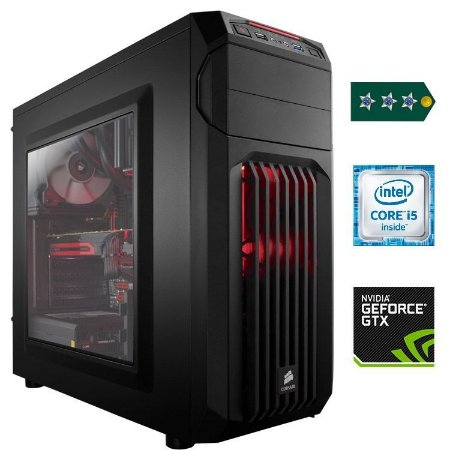PC Gamer Capitão - Core i5 3.0GHz / 8GB DDR4 / SSD 120GB + HD 1TB / GTX 1060 3GB