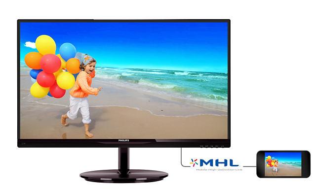 "Monitor LCD (LED) 21.5"" IPS Philips - 224E5QHAB"