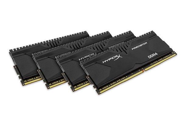 Memória 16GB (4x4GB) 3000MHZ DDR4 Kingston HyperX Predator - Preto