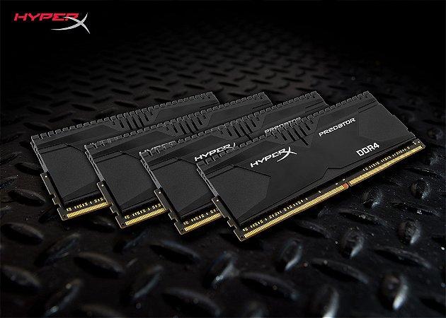 Memória 16GB (4x4GB) 2400MHZ DDR4 Kingston HyperX Predator - Preto
