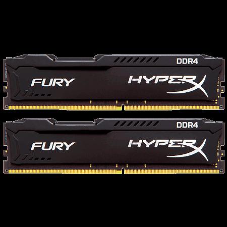Memória 16GB (2x8GB) 2133MHZ DDR4 Kingston HyperX Fury - Preta
