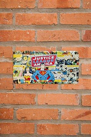 Placa de Parede Liga da Justiça