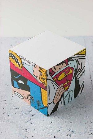 BLOCO DE ANOTACAO SUPERMAN E BATMAN Oficial