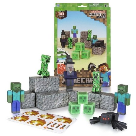 Conjunto Minecraft - Papercraft - Hostile Mobs