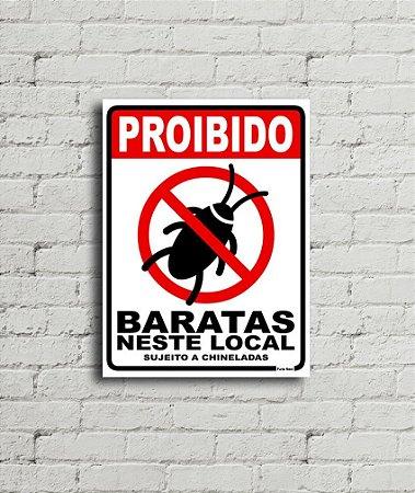 Placa de parede Proibido Baratas neste Local