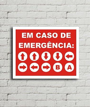Placa de parede Caso de Emergência