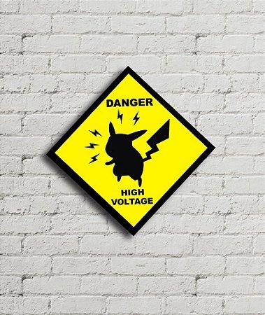 Placa Pokemon Danger High Voltage