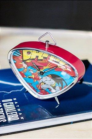 Relógio Despertador Heróis DC Comics Oficial