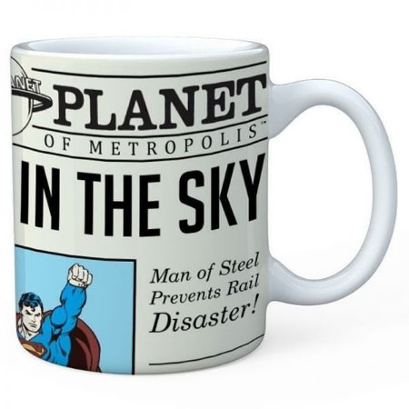 Caneca Superman Daily Planet DC Comics Oficial