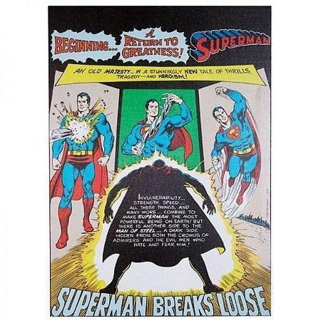 Quadro Tela Supermam Dc Comics Oficial