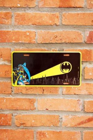 Placa de Metal Batman Oficial