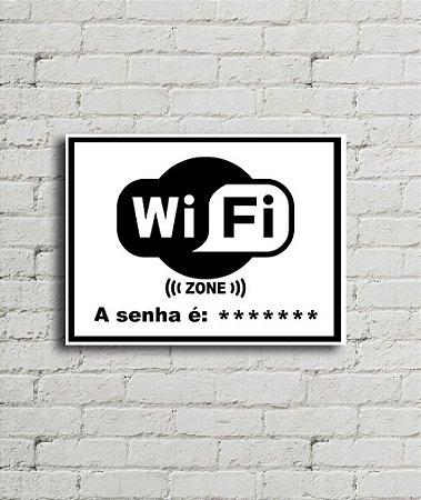 Placa de parede WiFi Zone