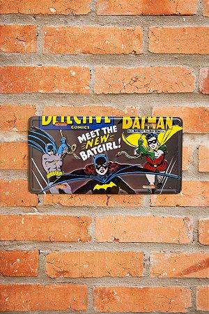 Placa de Metal BatGirl Oficial