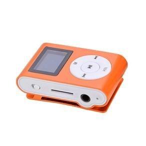 Mini Mp3 Player Entrada p/ Cartão de Memória e Fone de Ouvido Laranja