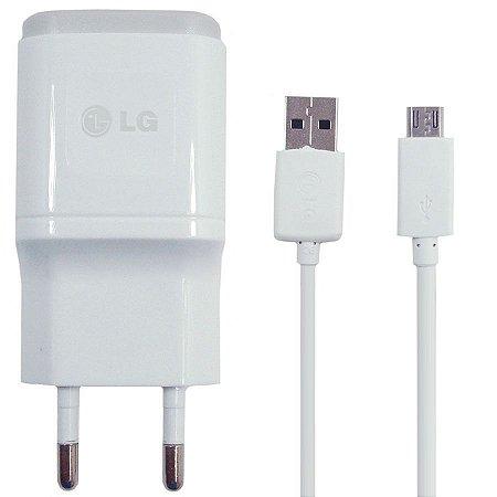Carregador de Parede Original LG Micro USB com Cabo USB - Branco