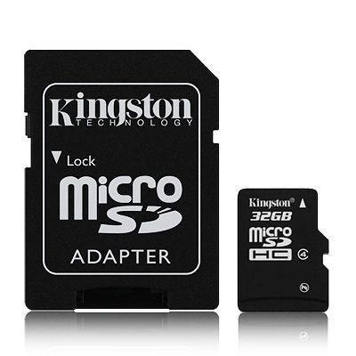 Cartão de Memória Micro SD 32gb Kingston com Adaptador