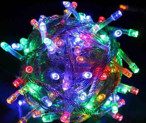 Pisca Pisca Luminoso Colorido com 4 Fases 100 Lâmpadas Led - 220V