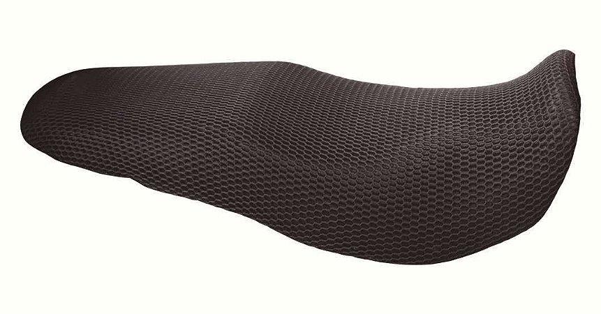 Capa Termica Para Banco de Moto Impermeavel Ventilada Evita aquecimento Cor Preta