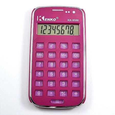 Calculadora Eletrônica Básica Kenko Lilás 8 Dígitos Kk-9500