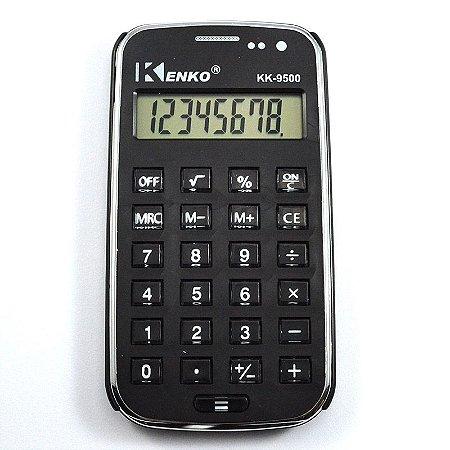 Calculadora Eletrônica Básica Kenko Preto 8 Dígitos Kk-9500