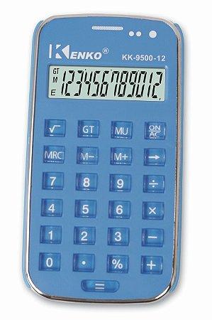Calculadora Eletrônica Básica Kenko Azul 8 Dígitos Kk-9500