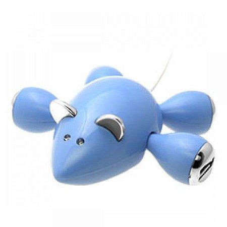 Mouse Hub USB 2.0 com 4 Portas  Modelo Rato