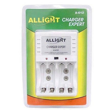Carregador de Pilhas AA, AAA e Bateria 9v Allight Charger Expert A-612 Bivolt