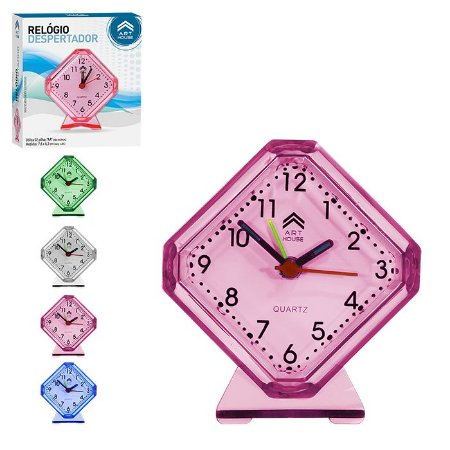 Relógio De Mesa E Despertador Art House - Diversas Cores