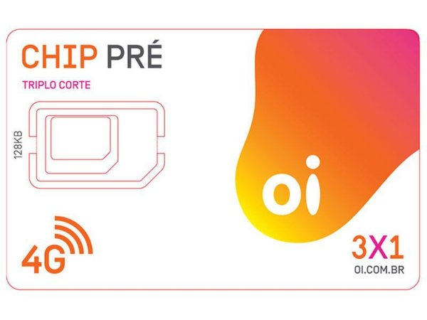 Chip Oi 3 em 1 Triplo Corte Pré Tecnologia 4G - DDD 83 PB