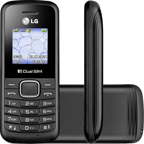 """Celular Desbloqueado LG B220 Preto Dual Chip, Rádio FM, Display Colorido de 1.45"""" e Lanterna"""