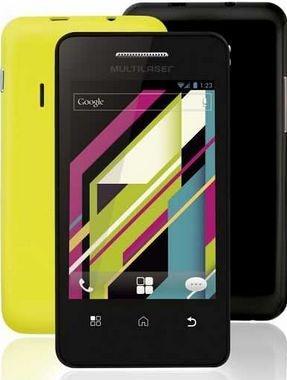 Celular Smartphone Multilaser MS1 2 Chips Quadriband Bluetooth Preto e Amarelo P3242