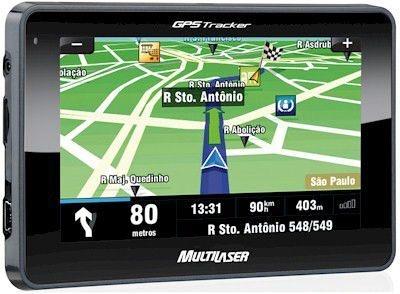 """GPS Multilaser GP011 Tracker 2 Slim Tela 4,3""""- Função TTS (Fala o Nome das Ruas) e Menu de Favoritos"""