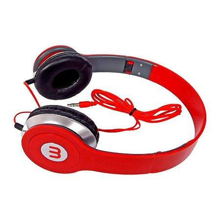 Fone De Ouvido Headphone M Ltomex A-568 - Vermelho