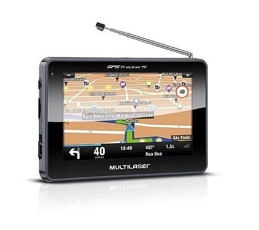 GPS Multilaser GP012 Tracker TV 2 - 4,3 Pol TV Digital, FM, Mini USB