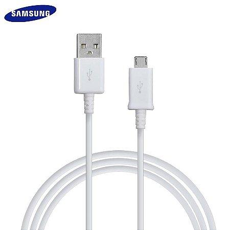 Cabo De Dados Original Samsung Micro USB V8 Branco