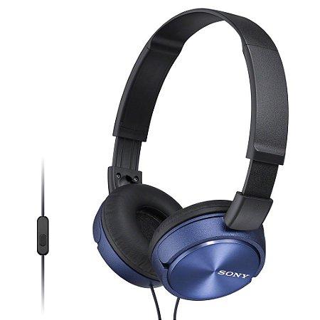 Fone de Ouvido Headphone Sony MDR-ZX320 Com EXTRA BASS Azul