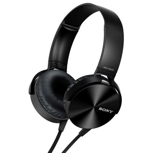 Fone de Ouvido Headphone Sony MDR-XB450AP Com EXTRA BASS Preto