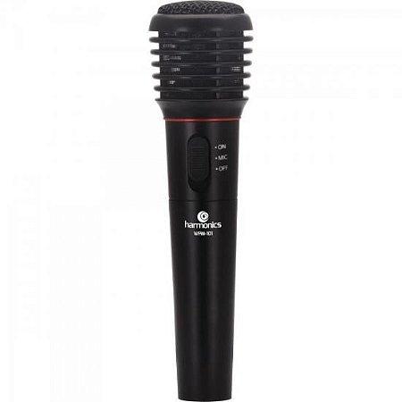 Microfone com e sem Fio VHF WPM-101 Preto HARMONICS
