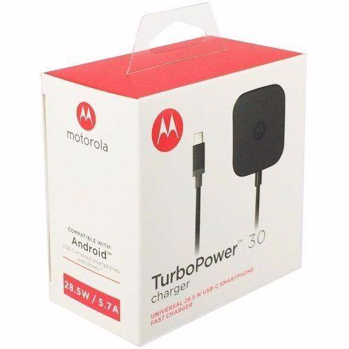 Carregador Motorola Turbo Power 30 Tipo-C Original Moto Z Play Xt1635 USB-C